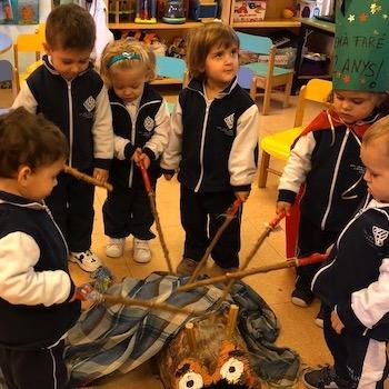 Tió de Nadal a Lestonnac - Educació Infantil.