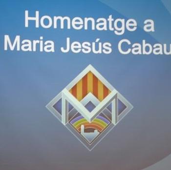 Acte de record i homenatge a la sra. Maria Jesús Cabau.