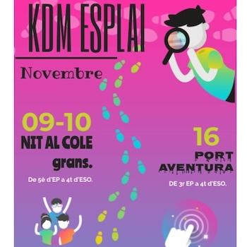 Esplai KdM: Activitats mes de novembre.