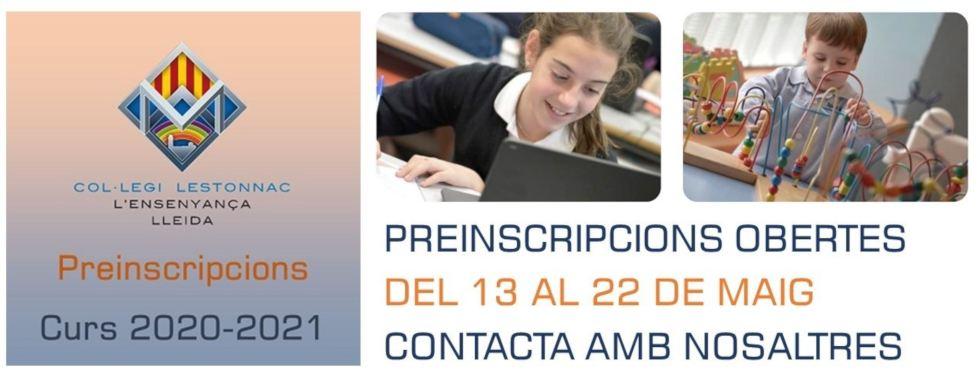 Lestonnac Lleida Preinscripcio 2020-2021